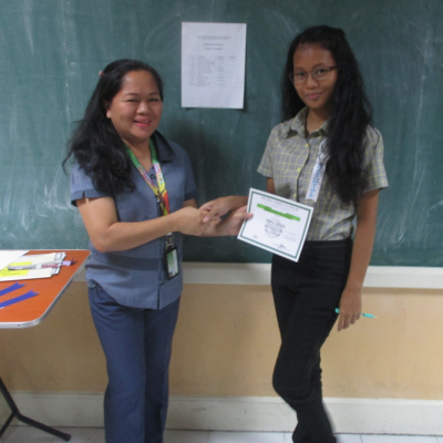 Senior High School Awarding Of Quarterly Recognition